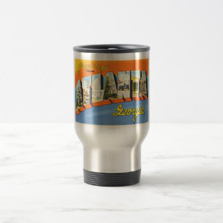 Atlanta Georgia GA Old Vintage Travel Postcard- Travel Mug