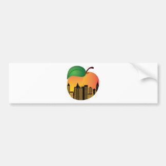 Atlanta Georgia Night Skyline Inside Peach Bumper Sticker