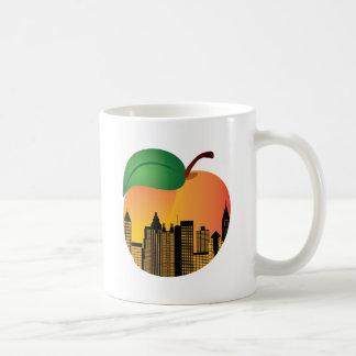 Atlanta Georgia Night Skyline Inside Peach Coffee Mug