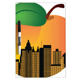 Atlanta Georgia Night Skyline Inside Peach Dry-Erase Whiteboards