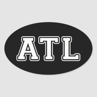 Atlanta Georgia Oval Sticker