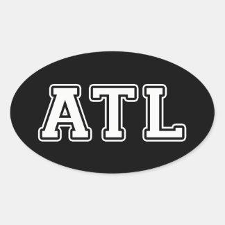Atlanta Georgia Oval Sticker