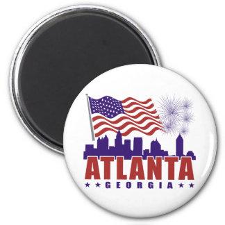 Atlanta Georgia Patriotic Magnet