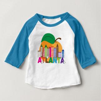 Atlanta, Georgia | Peach Skyline Baby T-Shirt