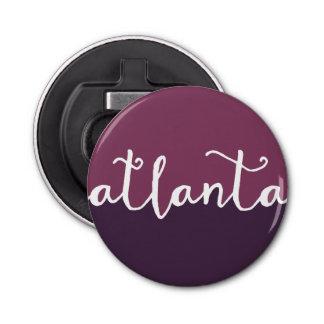 Atlanta, Georgia | Purple Ombre Circle Bottle Opener