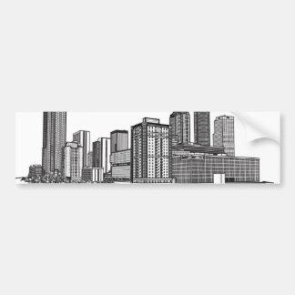 Atlanta Georgia Skyline Art Bumper Sticker