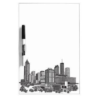 Atlanta Georgia Skyline Art Dry-Erase Whiteboard