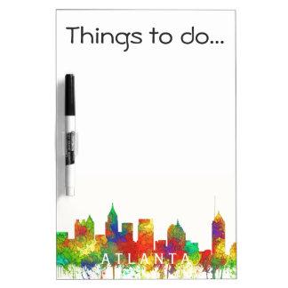 Atlanta Georgia Skyline-SG Dry Erase Whiteboard