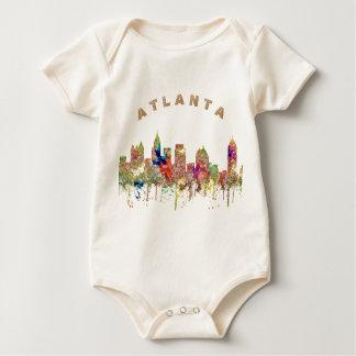 Atlanta Georgia Skyline SG-Faded Glory Baby Bodysuit