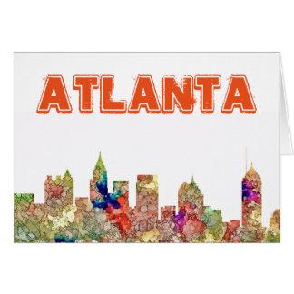 Atlanta Georgia Skyline SG-Faded Glory Card