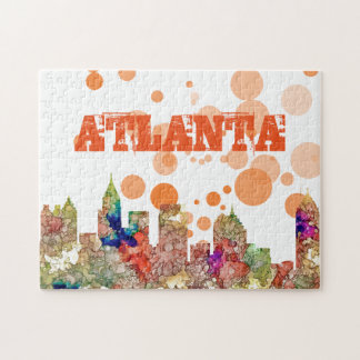 Atlanta Georgia Skyline SG-Faded Glory Jigsaw Puzzle