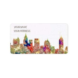 Atlanta Georgia Skyline SG-Faded Glory Label