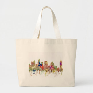 Atlanta Georgia Skyline SG-Faded Glory Large Tote Bag