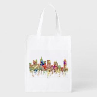Atlanta Georgia Skyline SG-Faded Glory Reusable Grocery Bag