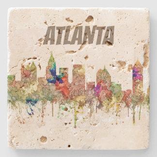 Atlanta Georgia Skyline SG-Faded Glory Stone Coaster