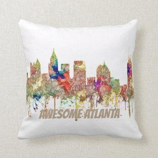 Atlanta Georgia Skyline SG-Faded Glory Throw Pillow