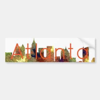 Atlanta Georgia Skyline SG-Safari Buff Bumper Sticker
