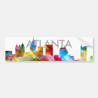 ATLANTA GEORGIA SKYLINE VIBRANCE - BUMPER STICKER