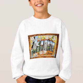Atlanta Georgia Vintage Travel Postcard Vacation Sweatshirt