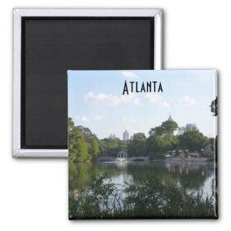 Atlanta Piedmont Park Lake Photo Magnet Georgia