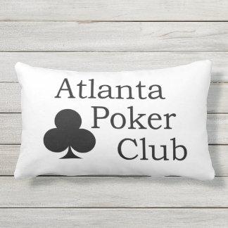 Atlanta Poker Club Outdoor Throw Pillow