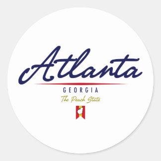 Atlanta Script Round Sticker