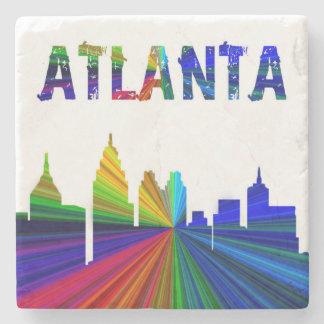 Atlanta Silhouette, Rainbow, Coaster