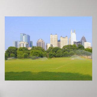 Atlanta Skyline  from Piedmont Park Poster