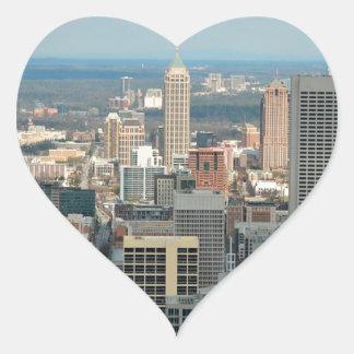 Atlanta Skyline Heart Sticker
