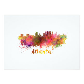 Atlanta skyline in watercolor card