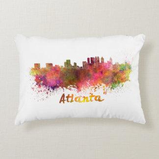 Atlanta skyline in watercolor decorative pillow