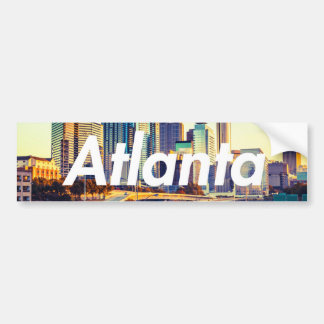 Atlanta Skyline Morning Bumper Sticker
