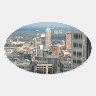 Atlanta Skyline Oval Sticker