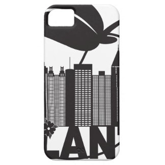 Atlanta Skyline Peach Dogwood Black White Text Case For The iPhone 5