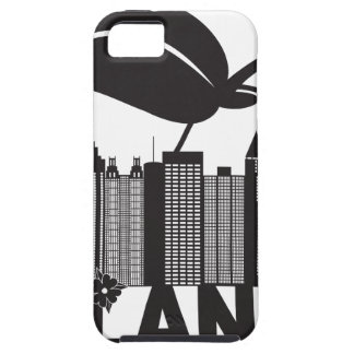 Atlanta Skyline Peach Dogwood Black White Text Case For The iPhone 5