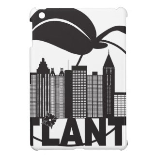 Atlanta Skyline Peach Dogwood Black White Text iPad Mini Cases