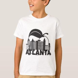 Atlanta Skyline Peach Dogwood Black White Text T-Shirt