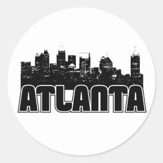 Atlanta Skyline Round Sticker