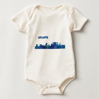 Atlanta Skyline Silhouette Baby Bodysuit