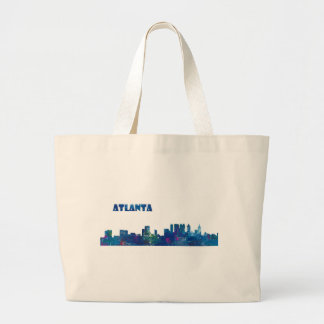 Atlanta Skyline Silhouette Large Tote Bag
