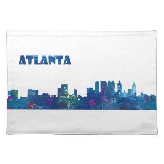 Atlanta Skyline Silhouette Placemat