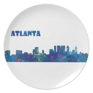Atlanta Skyline Silhouette Plate