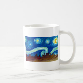 Atlanta Skyline Silhouette with Starry Night Coffee Mug