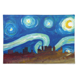 Atlanta Skyline Silhouette with Starry Night Placemat