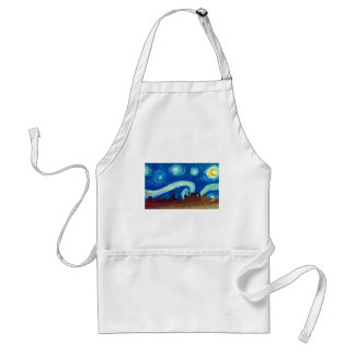 Atlanta Skyline Silhouette with Starry Night Standard Apron