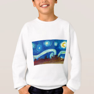Atlanta Skyline Silhouette with Starry Night Sweatshirt