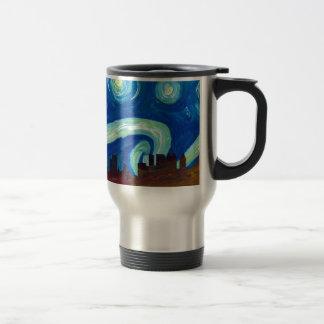Atlanta Skyline Silhouette with Starry Night Travel Mug