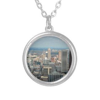 Atlanta Skyline Silver Plated Necklace