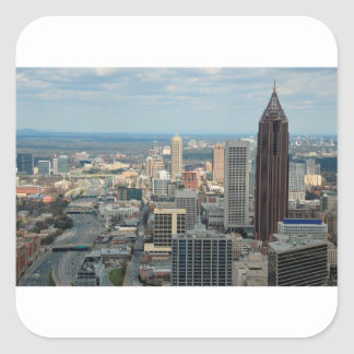 Atlanta Skyline Square Sticker