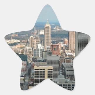 Atlanta Skyline Star Sticker